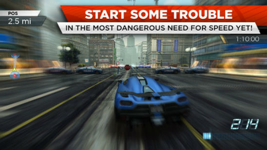 Tải Need for Speed: Most Wanted phiên bản game cho iOS ảnh 2